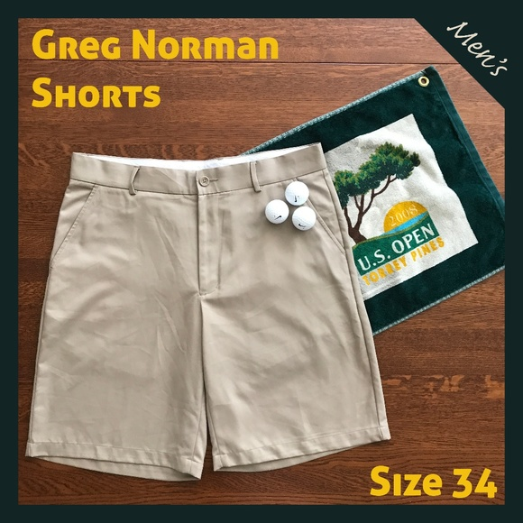 9fe3b063 Greg Norman Other - HP! Men's Greg Norman Khaki Golf Shorts 34